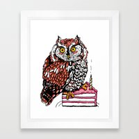 Owl Be Wishing You Well Framed Art Print