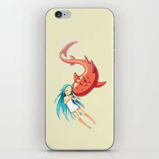 Red Whale iPhone & iPod Skin