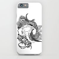 iPhone & iPod Case featuring Inking Elephant by Alexis Kadonsky