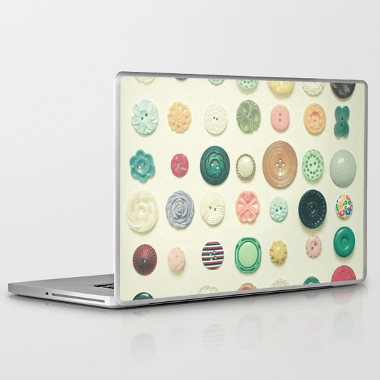 The Button Collection Laptop & iPad Skin