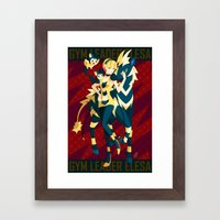 Pokemon Gym Leader Elesa Framed Art Print
