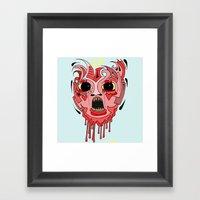 Screaming Baby Framed Art Print