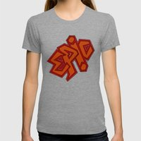 EPiC on red Womens Fitted Tee Tri-Grey SMALL