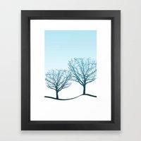 Twin Trees Framed Art Print