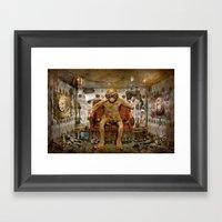 Im Blickkontakt Framed Art Print