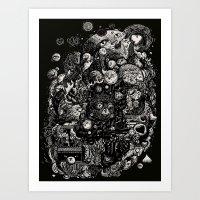 Spark-Eyed Oblivion Casc… Art Print