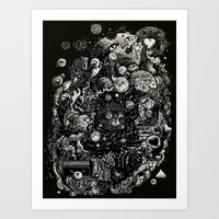 Spark-Eyed Oblivion Cascade Blues Art Print