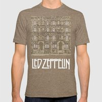 Physical Graffiti. Zeppelin lyrics print. Mens Fitted Tee Tri-Coffee SMALL
