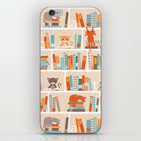 Library cats iPhone & iPod Skin