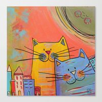 City Cats Canvas Print