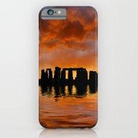 iPhone & iPod Case featuring Stonehenge Sunrise, Wiltshire by David Turner