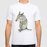 Armadilo Mens Fitted Tee Ash Grey SMALL