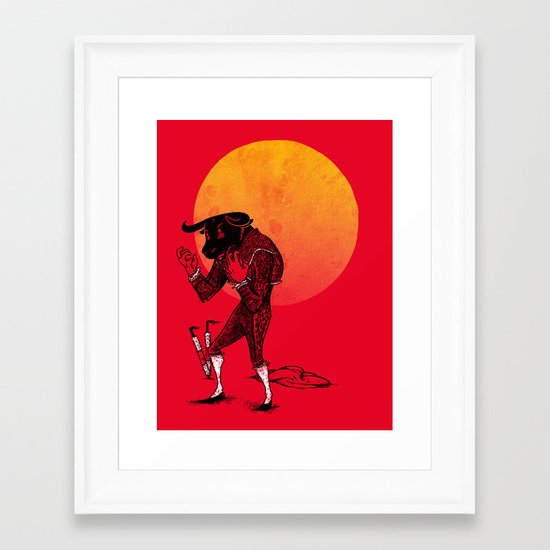 Matador's Dilemma Framed Art Print