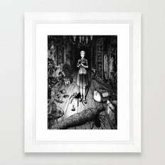Spiders in the attic Framed Art Print