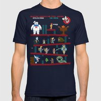 The Real Donkey Puft Mens Fitted Tee Navy SMALL