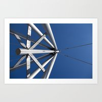Sky And Steel Art Print