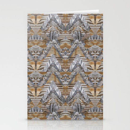 Wood Quilt 2 Stationery Card