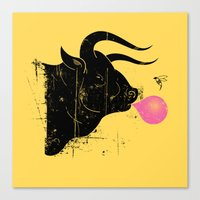 The Bull & The Bee Canvas Print