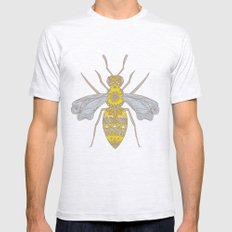 Mr Bee Mens Fitted Tee Ash Grey SMALL