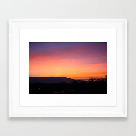 Purple Morning Glow Framed Art Print