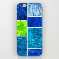 Blue Block iPhone & iPod Skin