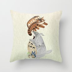 tonari no totoro Throw Pillow