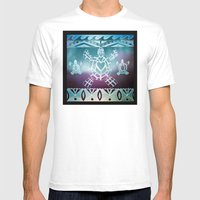 Tribal Sea Turtle Mens Fitted Tee White SMALL