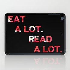 eat a lot, read a lot iPad Case