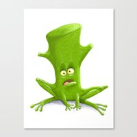 Log in a Frog Canvas Print