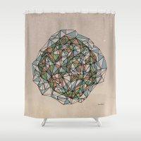 - Blue Orange Green - Shower Curtain