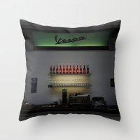 Vespa Bar Throw Pillow