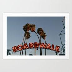 Vintage Boardwalk Sign Art Print