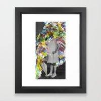 A Glitzy Girl Framed Art Print