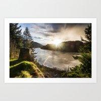 Columbia River Gorge - O… Art Print