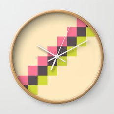 Stairs of Squares Wall Clock