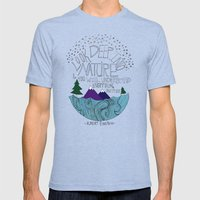 Nature II Mens Fitted Tee Tri-Blue SMALL