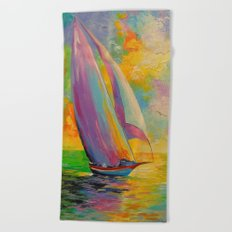 A fresh breeze Beach Towel