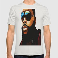 Rozay Mens Fitted Tee Silver SMALL
