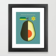 Fruit: Avocado Framed Art Print