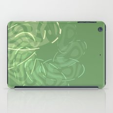 Green Spiral abstract iPad Case