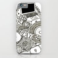 iPhone & iPod Case featuring Work is Play by Hopler Art