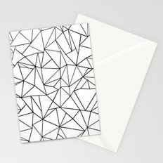 Abstract Outline Black on White Stationery Cards