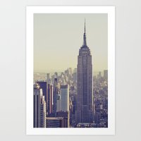 nyc Art Prints featuring NYC by Chernobylbob