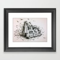 Fantastic architecture Framed Art Print