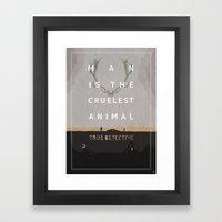 Poster True Detective Framed Art Print