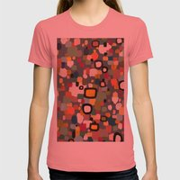 Ce Soir Womens Fitted Tee Pomegranate SMALL