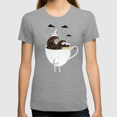 Brainstorming Coffee Womens Fitted Tee Tri-Grey SMALL