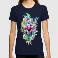 SKULL ISLAND Womens Fitted Tee Navy LARGE