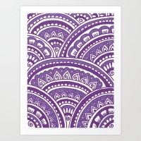Plum Mandala Art Print