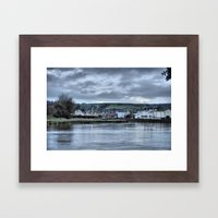 Barnstaple  from Rock Park Framed Art Print